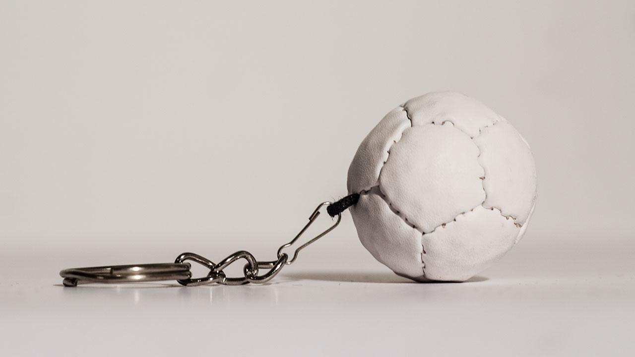 Boccas Ball Keychain - White