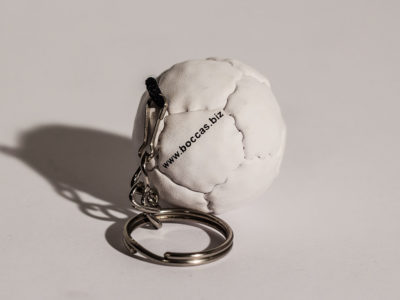 Boccas Ball Keychain - White